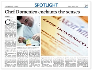 Chef Domenico enchants the senses