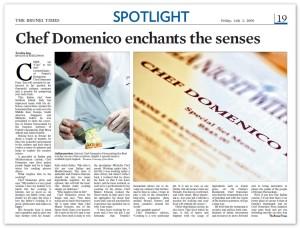Chef Domenico enchants the senses