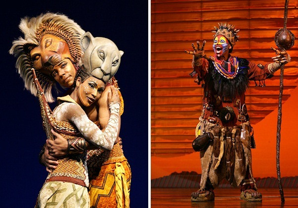 Wallce Smith (Simba) and Kissy Simmons (Nala) Lion King New York Photo  by Joan Marcus (c) Disney