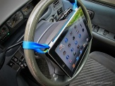 Image result for ipad on steering wheel