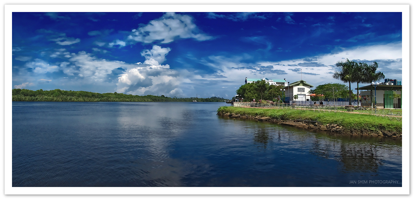 Panorama: Recreational Park at the Kuala Belait Waterfront ...
