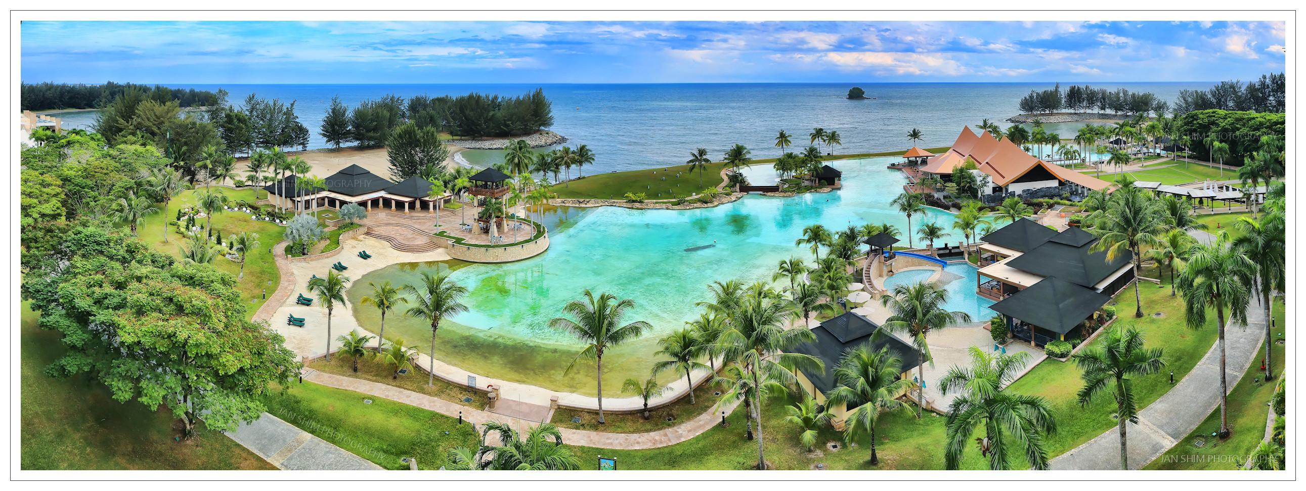 The empire hotel country club beachfront panorama - Centrepoint hotel brunei swimming pool ...